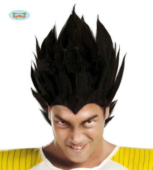 Adult Wig Dragon Ball Z Black for Vegeta Gohan Goku Super Saiyan DBZ Fancy Dress